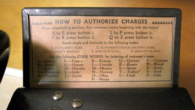 Instructions attached to top of set