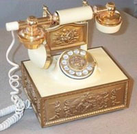 Cradle Phone, Antique Gold