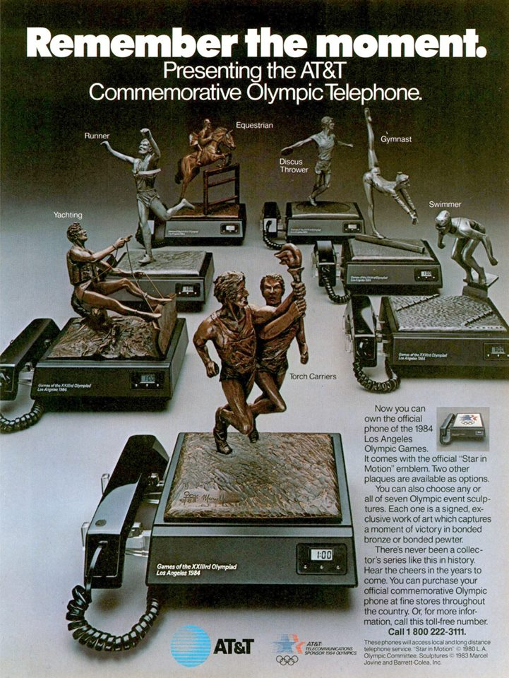 AT&T ad for the Olympic showcase phones