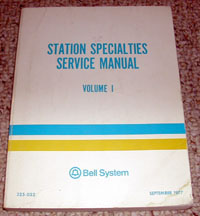 Station Specialties Services Manual
