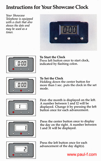 How to set the Showcase clock - 1