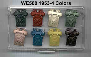 WE500 1953-4 colors