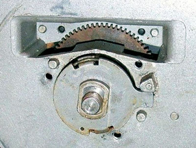 Dial with inspection window