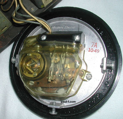 7A dial, back, October 1949