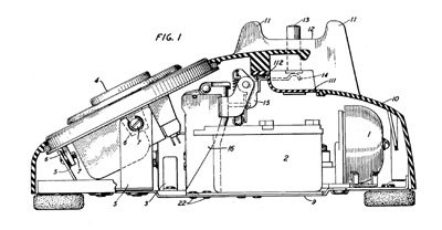 WE 500 Patent Drawing 1948