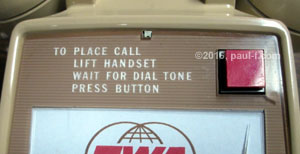 Faceplate dialing directions